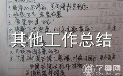 【精】工作 总结范文集锦7篇