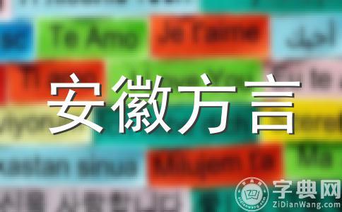 安庆方言词语