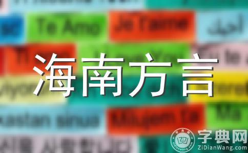 海南文昌方言词语