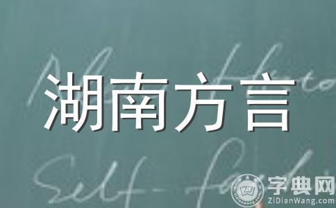 湖南话湘乡话考试