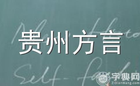 贵州方言学习