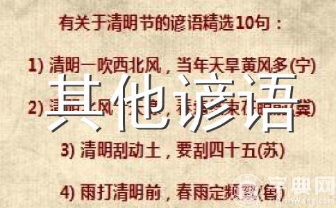 重庆俗语_重庆谚语